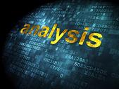 Marketing concept: Analysis on digital background — Stock Photo