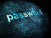 Security concept: Password on digital background — Stock Photo