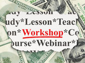 Education concept: Workshop on Money background — Stock Photo
