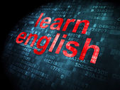 Education concept: Learn English on digital background — Foto Stock