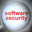 Safety concept: Software Security with optical glass — Foto Stock