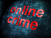Privacy concept: Online misdrijven op digitale achtergrond — Stockfoto