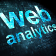 SEO web development concept: Web Analytics on digital background — Stock Photo
