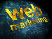 SEO web development concept: Web Marketing on digital background — Stock Photo