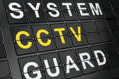 Protection concept: CCTV on airport board background — Foto de Stock