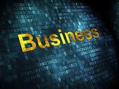 Business concept: Business on digital background — Stock Photo