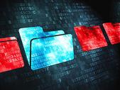Safety finance concept: Folder on digital background — Fotografia Stock