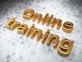 Education concept: Golden Online Training on digital background — Stock Photo