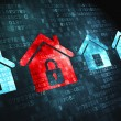 Protection concept: Home on digital background — Stock Photo