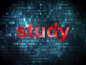 Education concept: Study on digital background — Stock Photo