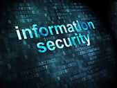 Security concept: Information Security on digital background — Stock Photo