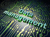 Information concept: Data Management on circuit board background — Stock Photo