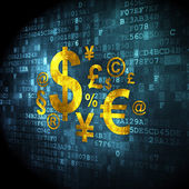 Marketing concept: Finance Symbol on digital background — Stock Photo