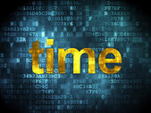 Time concept: Time on digital background — Stock Photo