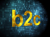 Business concept: B2c on digital background — Stock Photo