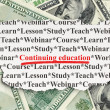 Stock Photo: Education concept: Continuing Education on Money background