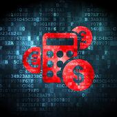 Finance concept: Calculator on digital background — Stock Photo