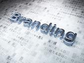 Marketing concept: Golden Branding on digital background — Stock Photo