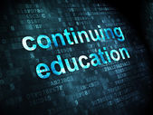 Education concept: Continuing Education on digital background — Stock Photo