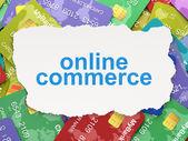 Finance concept: Online Commerce on Credit Card background — Fotografia Stock
