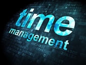 Time concept: Time Management on digital background — Stock Photo