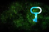 Protection concept: Key on digital background — Foto de Stock