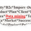 Foto de Stock  : Datconcept: DatMining on Paper background