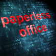 Business concept: Paperless Office on digital background — Stock Photo