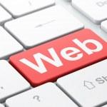 SEO web design concept: Web on computer keyboard background — Stock Photo #28861613