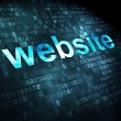 Stock Photo: SEO web design concept: Website on digital background