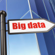 Stock Photo: Information concept: Big Daton Building background