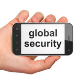 Privacy concept: Global Security on smartphone — Stock Photo