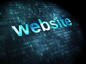 SEO web design concept: Website on digital background — Stock Photo