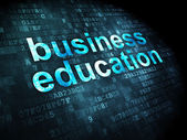 Business Education on digital background — Stock Photo