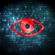 Foto de Stock  : Safety concept: Eye on digital background