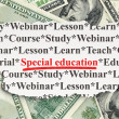 Foto de Stock  : Education concept: Special Education on Money background