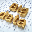 Foto de Stock  : Datconcept: Golden Big Daton digital background