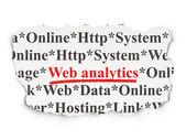 Web development concept: Web Analytics on Paper background — Zdjęcie stockowe