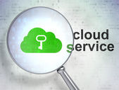 Cloud technology concept: Cloud With Key and Cloud Service with — Stockfoto