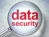 保护的概念: 数据安全与光学玻璃 — 图库照片