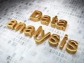 Information concept: Golden Data Analysis on digital background — Stock Photo