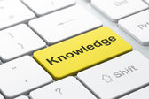 Education concept: Knowledge on computer keyboard background — Stock Photo