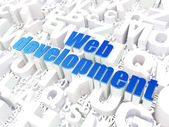SEO web design concept: Web Development on alphabet background — Stockfoto