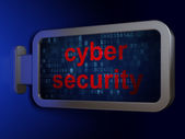 Protection concept: Cyber Security on billboard background — Stock Photo
