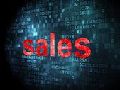 Advertising concept: Sales on digital background — Foto de Stock