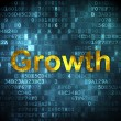Business concept: Growth on digital background — Stock Photo #29088025