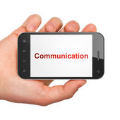 Advertising concept: Communication on smartphone — Stock Photo