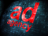 Marketing concept: Ad Agency on digital background — Stock fotografie