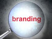 Advertising concept: Branding with optical glass — Foto de Stock