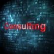 Stock Photo: Business concept: Consulting on digital background